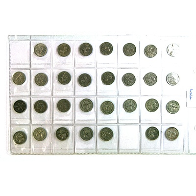 Thirty New Zealand Threepence Coins - 12 Silver