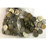 Bag of Thai 5 and 10 Baht Coins