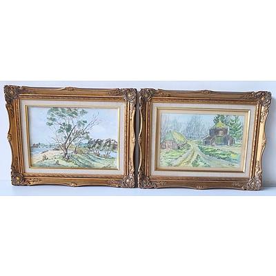 Two Ken Meares Watercolours