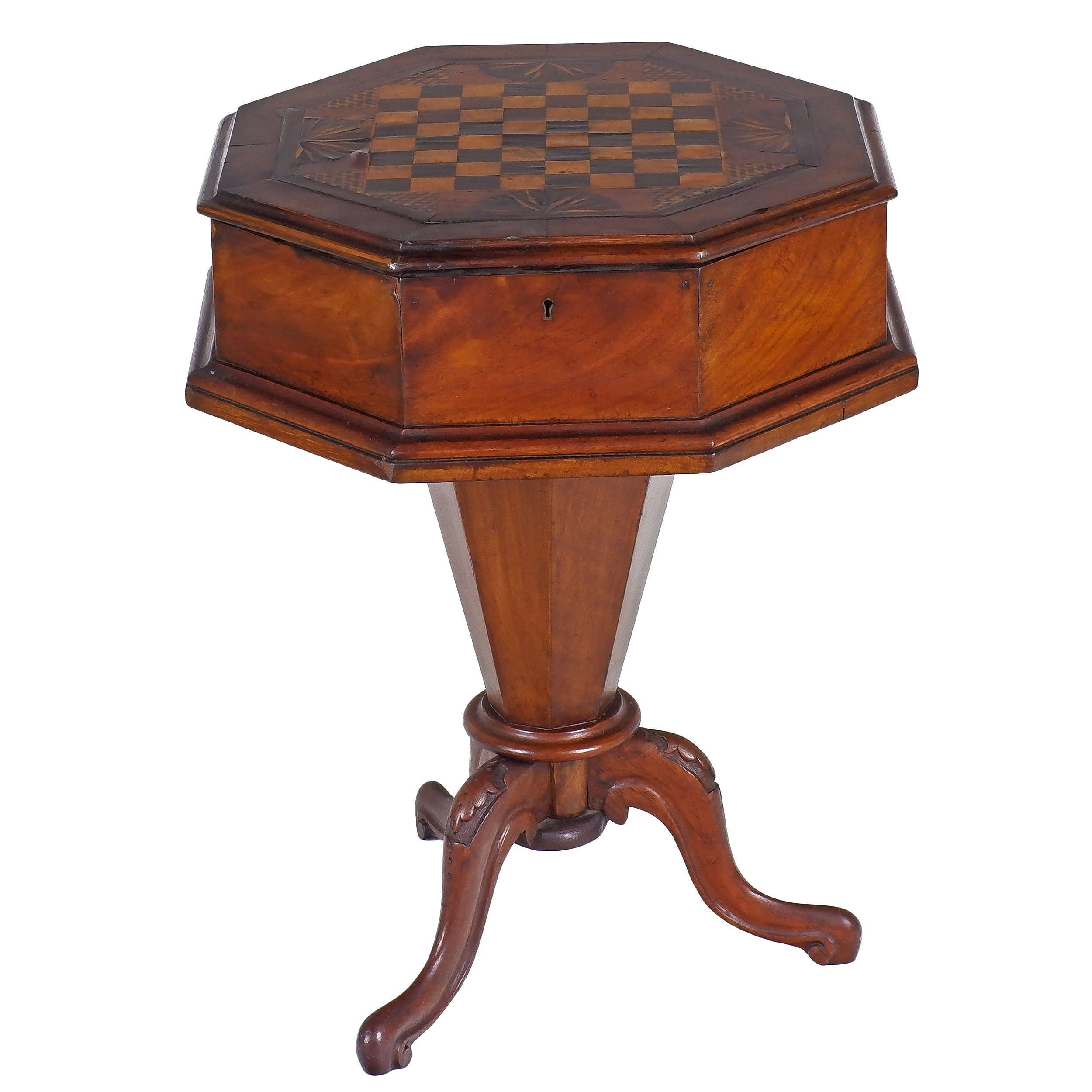 'Rare Australian Cedar and Specimen Timbers Inlaid Games Table 19th Century'