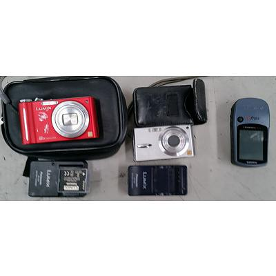 Lumix Cameras (2) & Garmin GPS