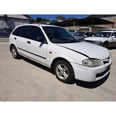 11/2000 Mazda 323 Astina Shades  5d Hatchback White 1.6L