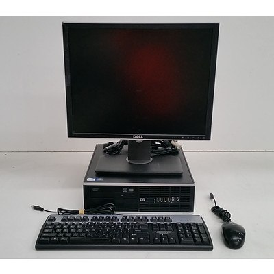 HP Compaq 8000 Elite Small Form Factor Pentium Dual-Core (E6700) 3.20GHz with 20 Inch LCD Monitor