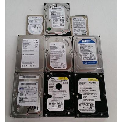 Bulk Lot of Assorted 80GB & 1 x 160GB SATA Hard Drives - Lot of 27