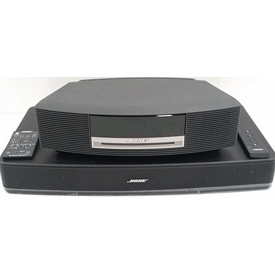 Bose Waves Digital Music System and Bose Solo TV Sound System