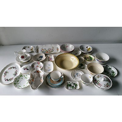 Large Group of English Porcelain Including Ansley, Royal Stafford, Royal Vale, Wedgwood and More