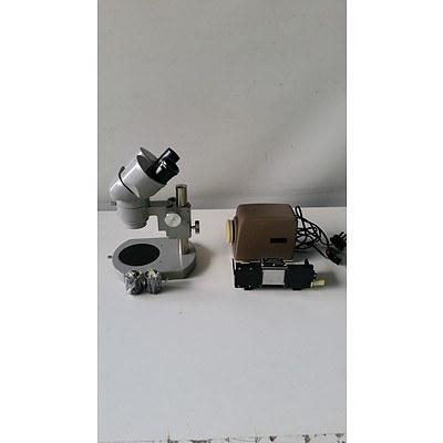 Nikon Microscope and Minolta Mini Projector