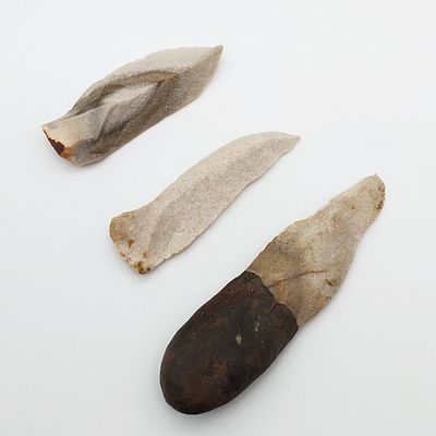 Three Carved Stone Tips
