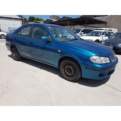 8/2000 Nissan Pulsar ST N16 4d Sedan Blue 1.8L