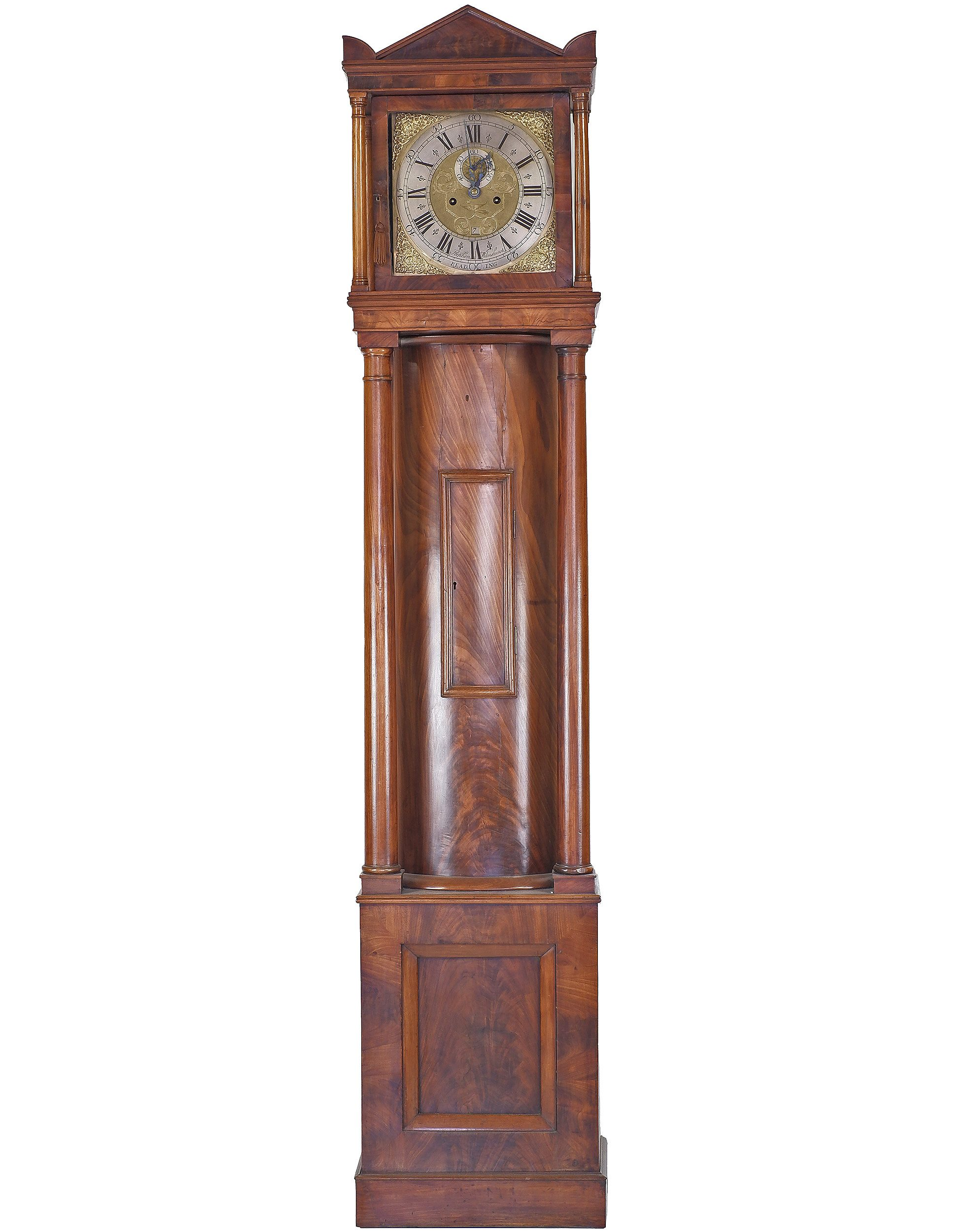 'Georgian Mahogany Longcase Clock the Movement by Stephen Wilmshurst of Reading Circa 1760'