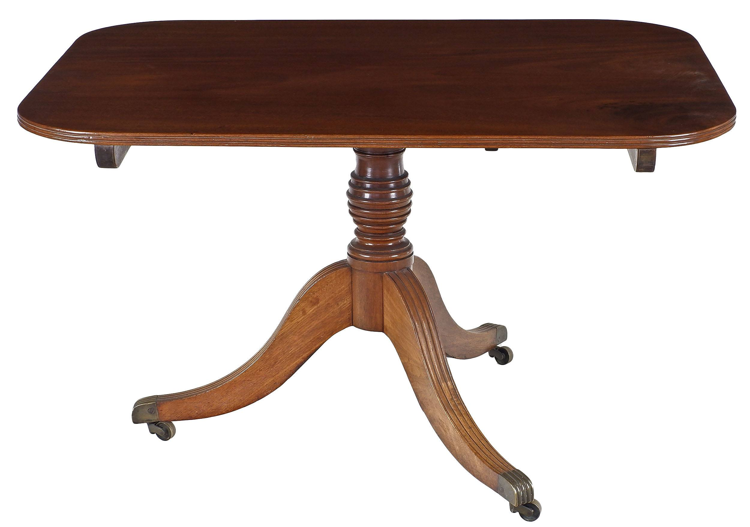 'Regency Mahogany Tilt-Top Breakfast Table of Small Proportions Circa 1820'