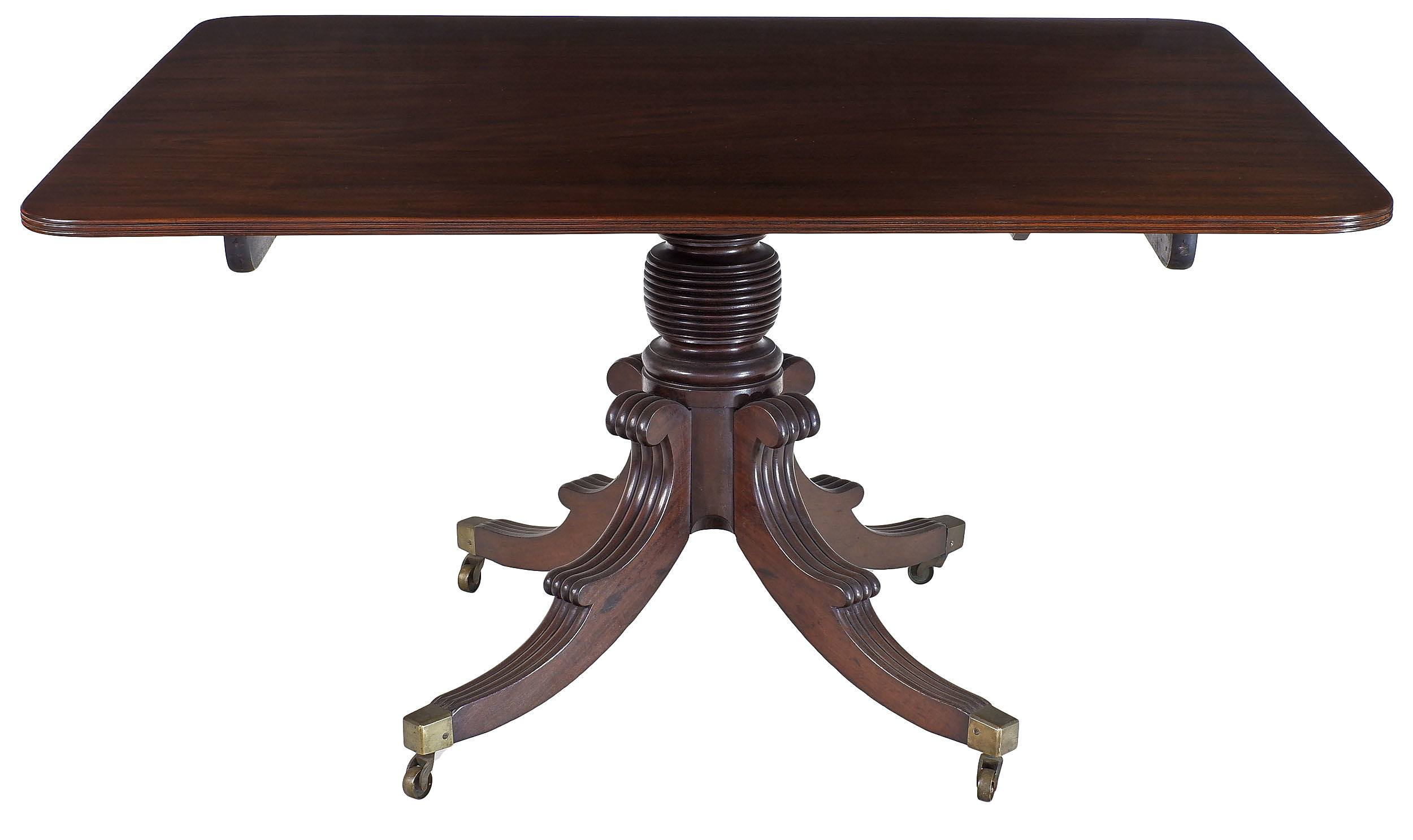 'Rectangular Irish Regency Mahogany Tilt-Top Breakfast Table Circa 1820'