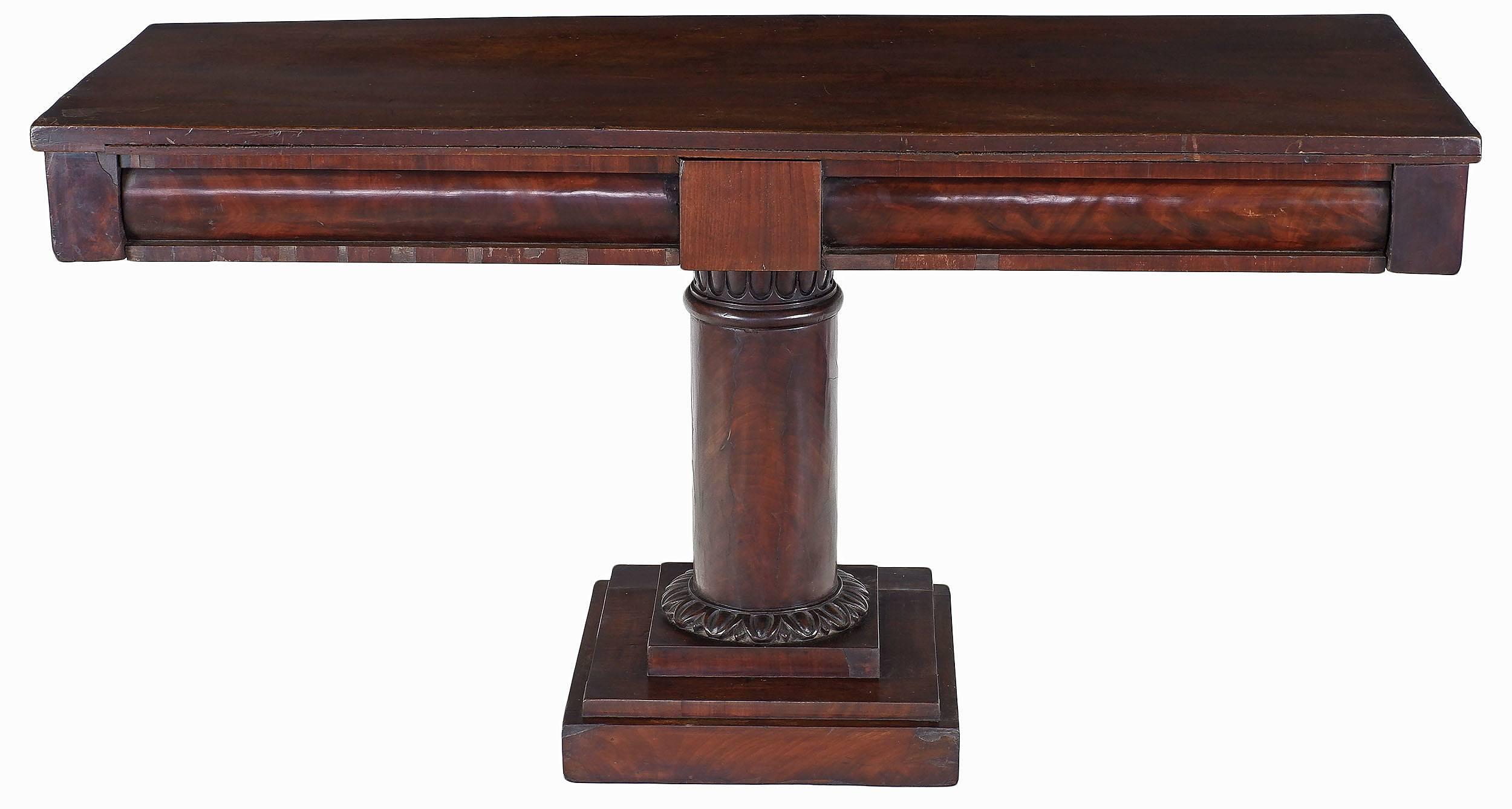 'Rare Large Australian Cedar Architectural Style Console Table Circa 1840'
