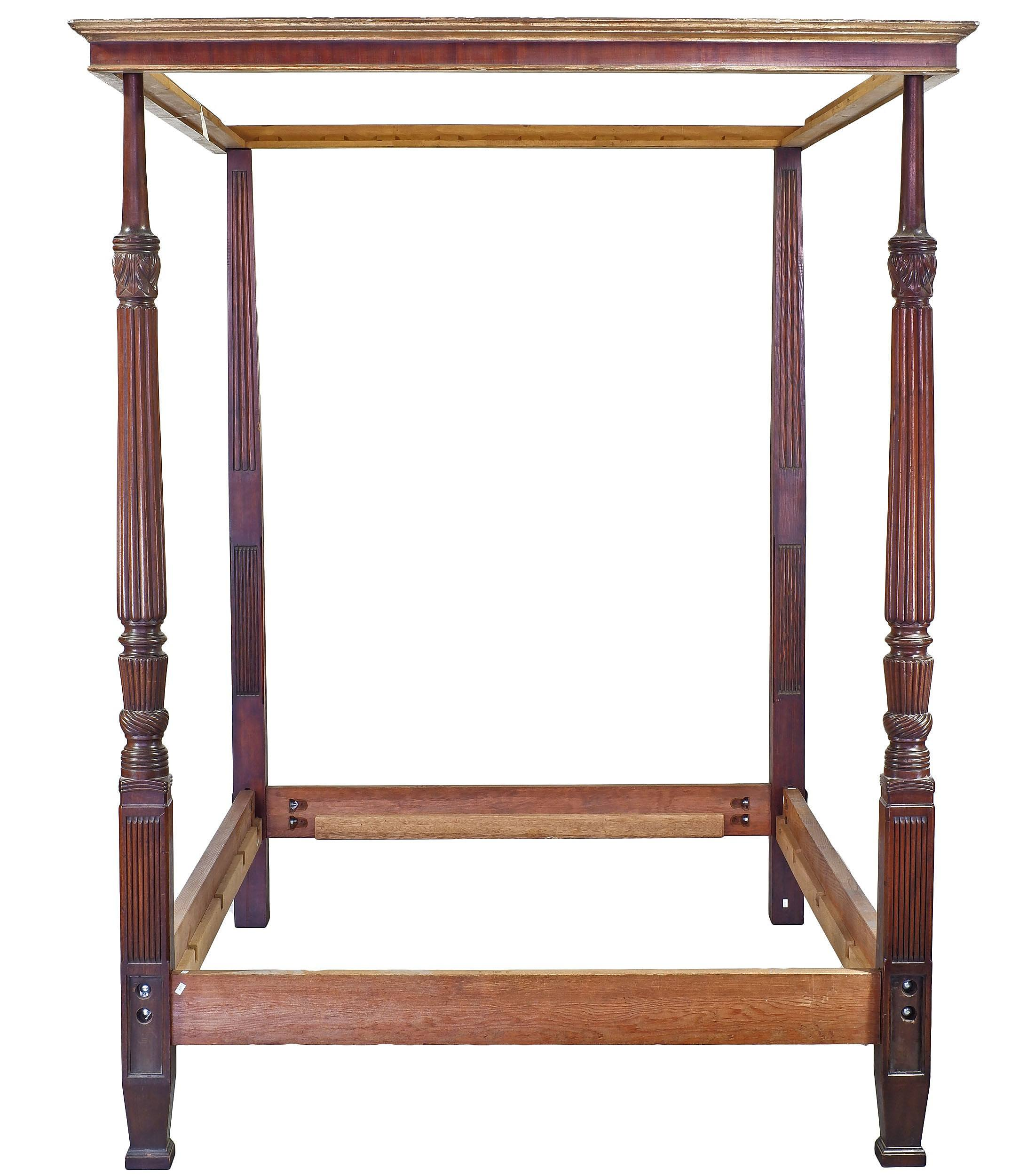 'Colonial Style Four Poster Bed'