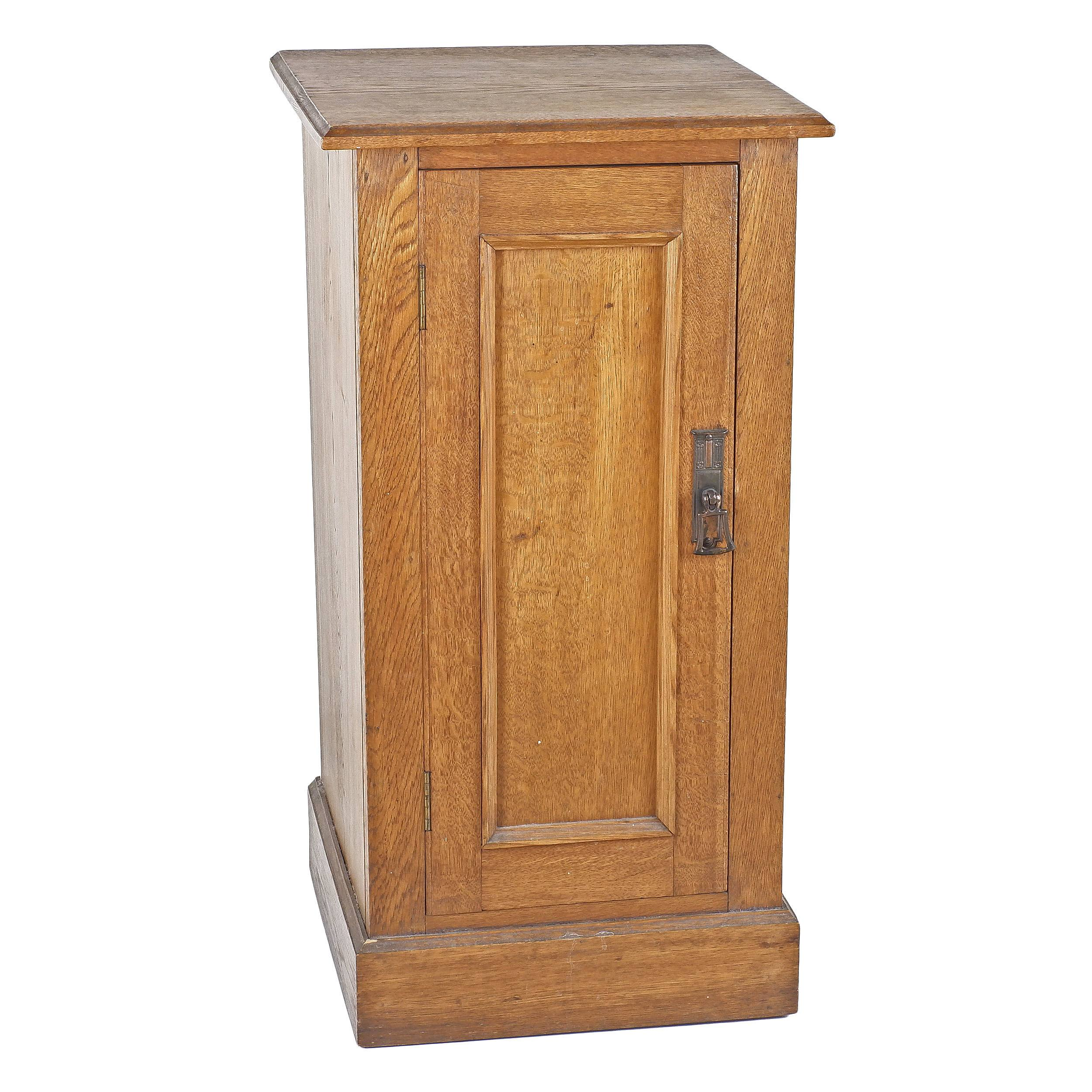 'Oak Bedside Cabinet Early 20th Century'
