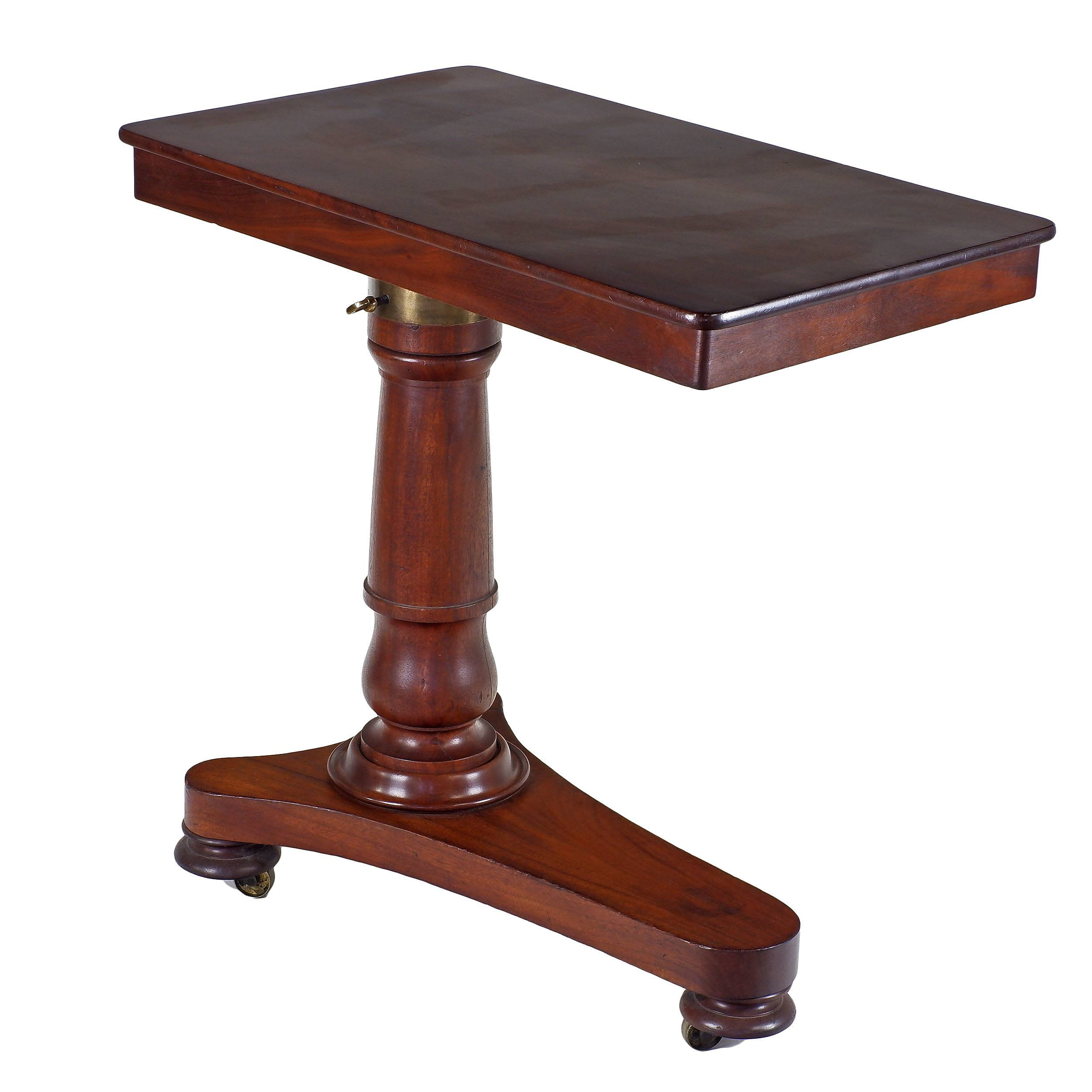 'Victorian Mahogany Adjustable Bedroom Reading Table Late 19th Century'