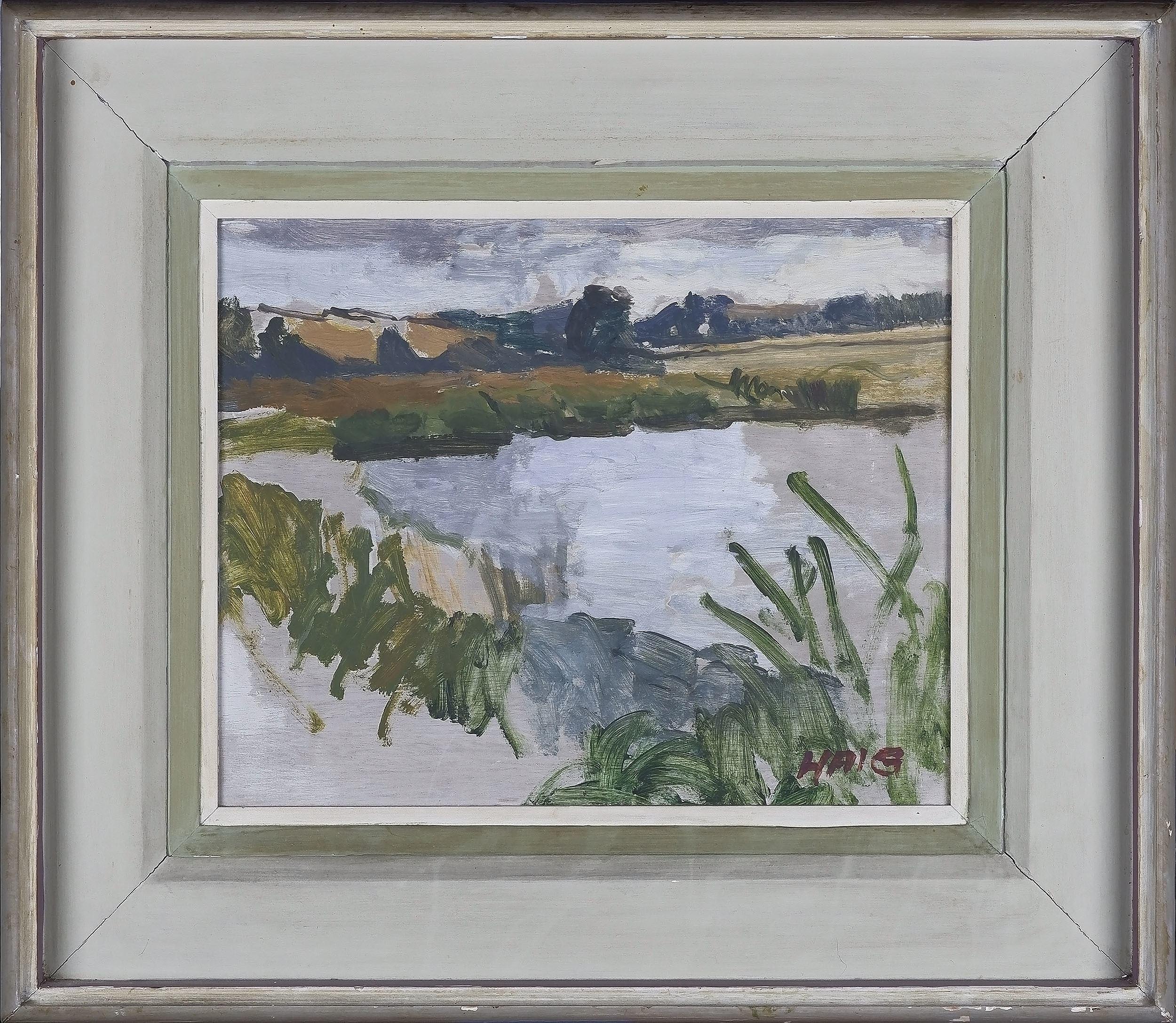 'Earl Haig RSA (Scottish 1918-2009) Untitled Landscape Oil On Board'