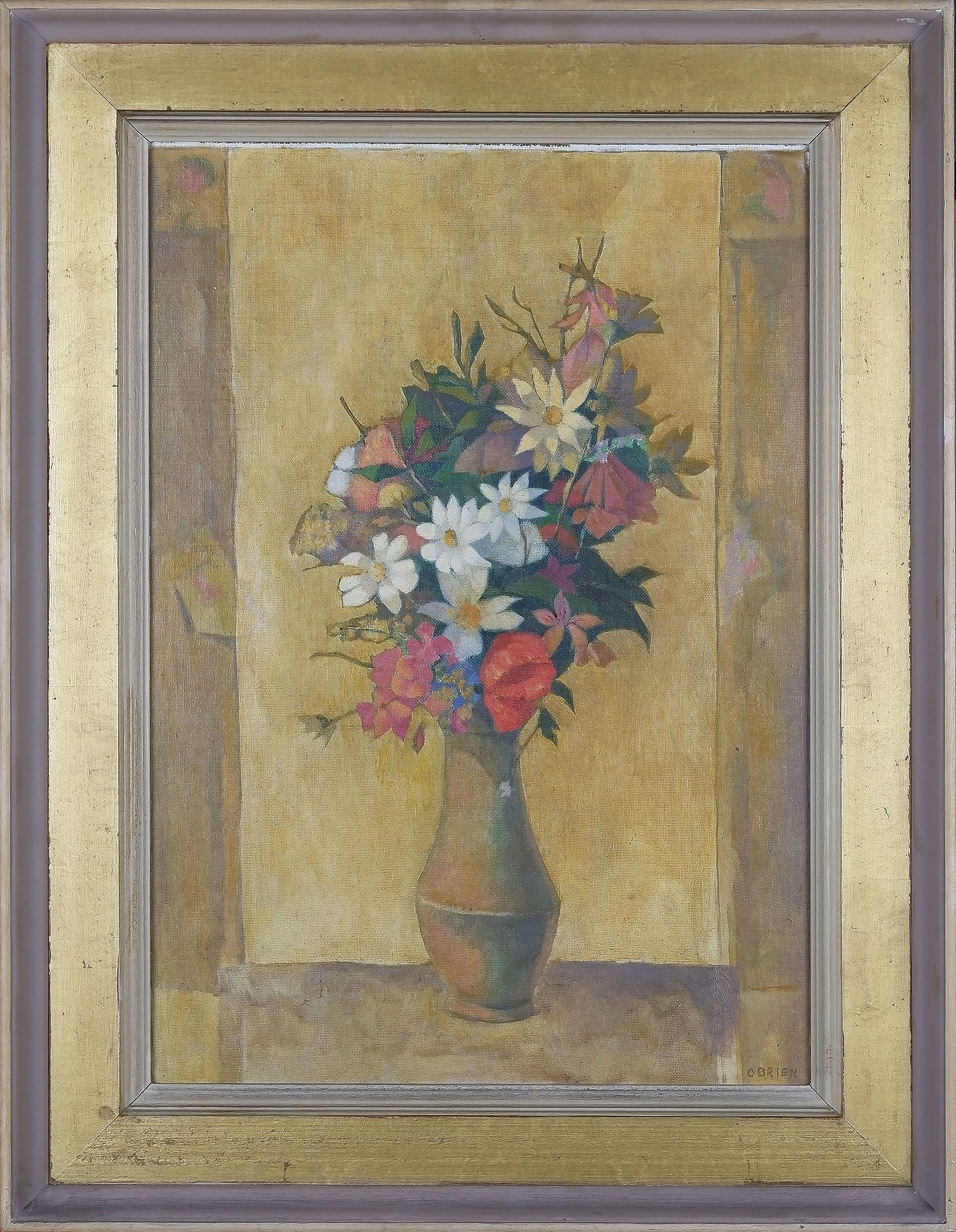 'Justin Maurice OBrien (1917-96) Wildflowers Greece 1965 Oil On Canvas'