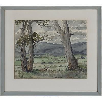 Wykeham Perry (1936-) Untitled Landscape Watercolour