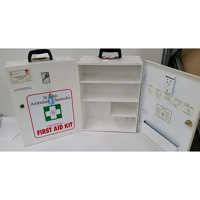 Wall Mount First Aid Boxes - Box only - Lot of 2