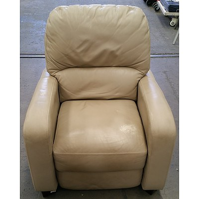 Tan Leather Armchair Recliner