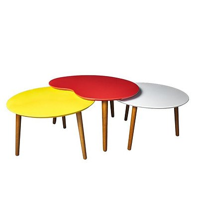 Line Design Red Palate Table