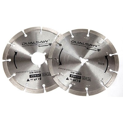 160mm Diamond Blade to suit Dual Saw CS650 by The Renovator - Lot of 21