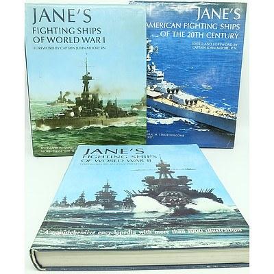 Three Jane's Fighting War Ships Books
