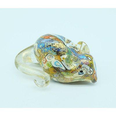 Vetro Artistico Murrano Glass Mouse Paperweight