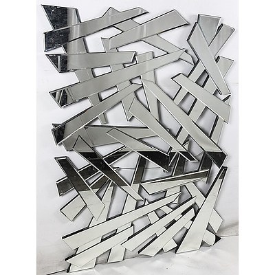 Large Contemporary Abstract Wall Mirror
