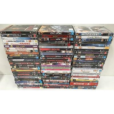 Bulk Lot of Approx. 90 DVDs