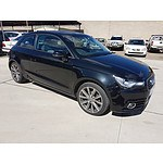 8/2011 Audi A1 1.6 TDI Ambition 8X 3d Hatchback Black 1.6L