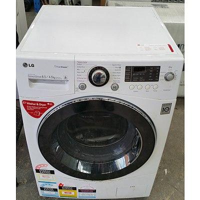 LG Direct Drive Inverter Combination Front Loader 8.5kg Washing Machine/4.5kg Dryer