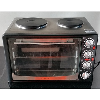 Singer Electric Oven with Two Hotplates