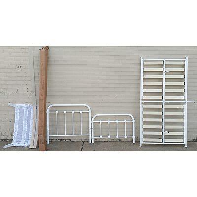 Two Single Sized Steel Bed Frames