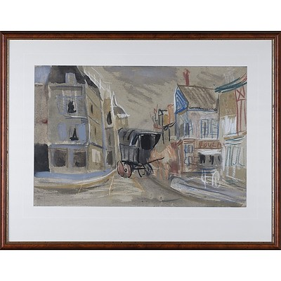 Donald Stuart Leslie Friend (1915-89) Untitled French Scene Pastel and Ink on Paper