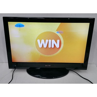 "Sanyo 26XR9DA 26"" LCD TV & AWA MSDV2203-F3-D0 22"" HD-Ready LCD TV w/Built in DVD Player"