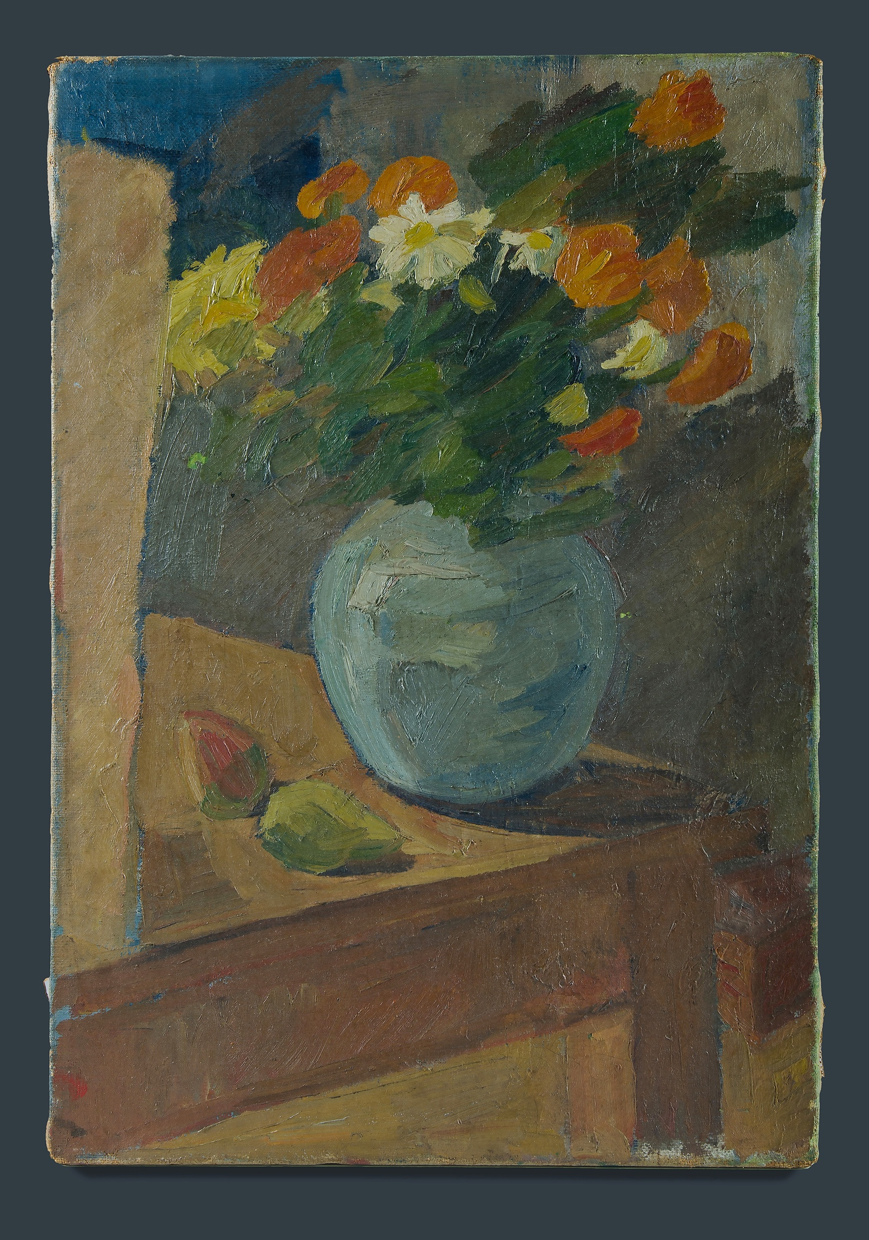'European School: Still Life with Mixed Blooms Oil on Canvas'