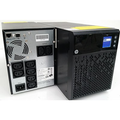 HPE T1000 G4 670W INTL Uninterruptible Power System (J2P89A) - Lot of 2
