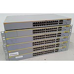 Allied Telesis AT-8000GS/24 Gigabit Switches - Lot of 6