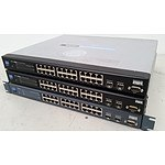 Cisco Linksys SRW2024 Gigabit Switches with WebView - Lot of 3