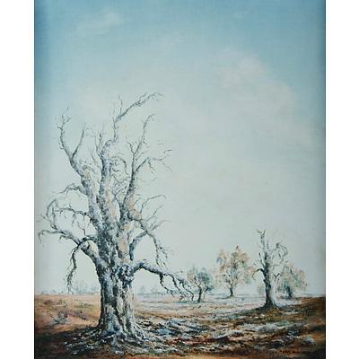 MINCHIN, Eric (b.1928): 'Creek Bed,' 1972 Oil on Canvas Board