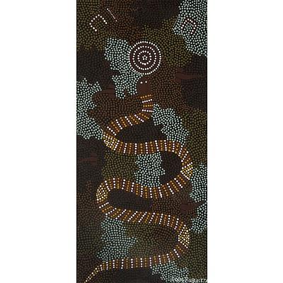RUBUNTJA, Doris: Snake Dreaming Acrylic on Canvas