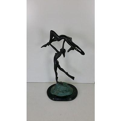 Bronze Gymnastics Statue