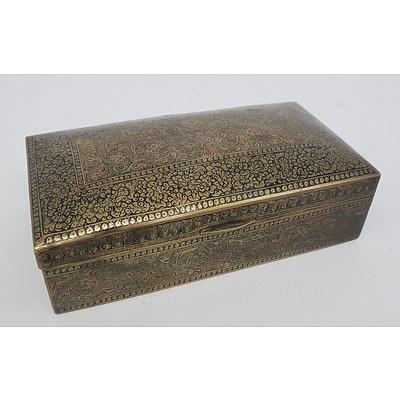 Small Brass Jewellery Box