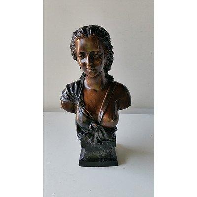 Bronze Women Bust Statue