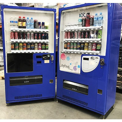 Jöta MH-25VUX2 Refrigerated Drink Machines - Lot of 2