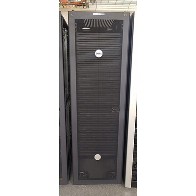 Dell Black Vented Server Rack #7