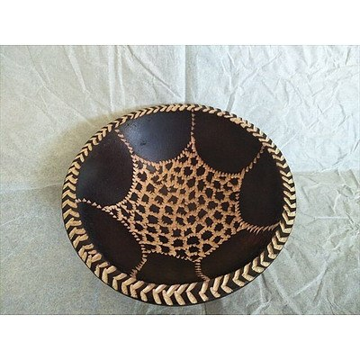 Handcarved wooden bowl from Namibia