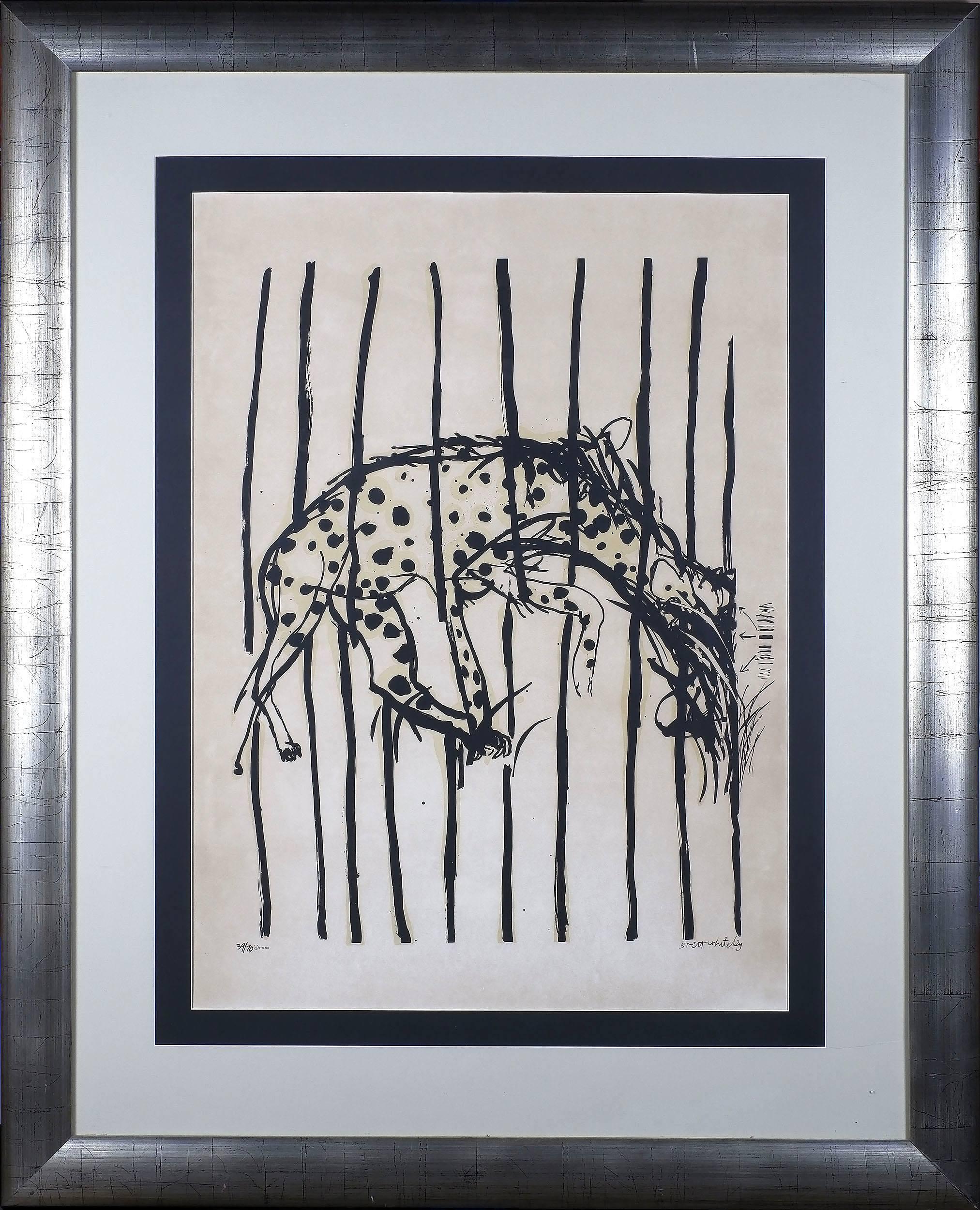 'Brett Whiteley (1939-1992) Hyena from the Regent Street Zoo, Colour Screenprint Edition 39/70'